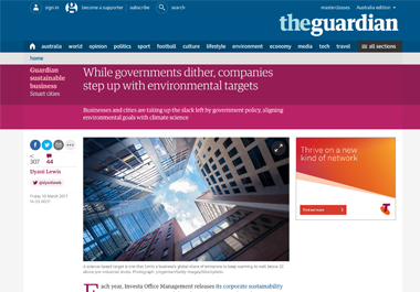 While governments dither, companies step up with environmental targets (Guardian)