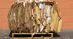 Circular economy – Bundle of Cardboard for Recycling
