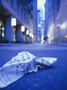Litter in the street
