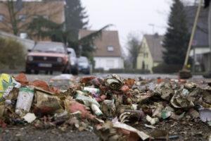 Litter in public spaces