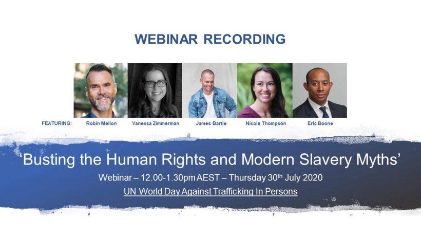 ICYMI: Busting Human Rights and Modern Slavery Myths Webinar
